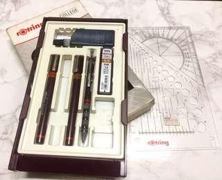 Rotring set (Tech pens & Mechanical pencil)