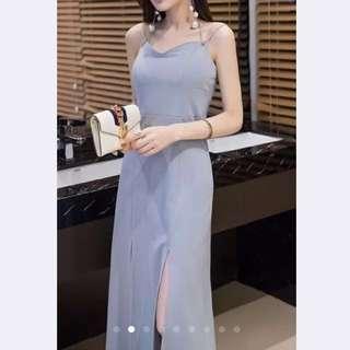 Grey maxi dress (formal)