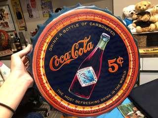 Vintage Metal Bottle Cap Sign