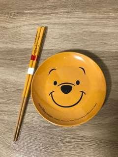 🚚 迪士尼 小熊維尼 盤筷組 維尼熊