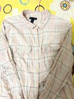 Gap粉色格紋襯衫
