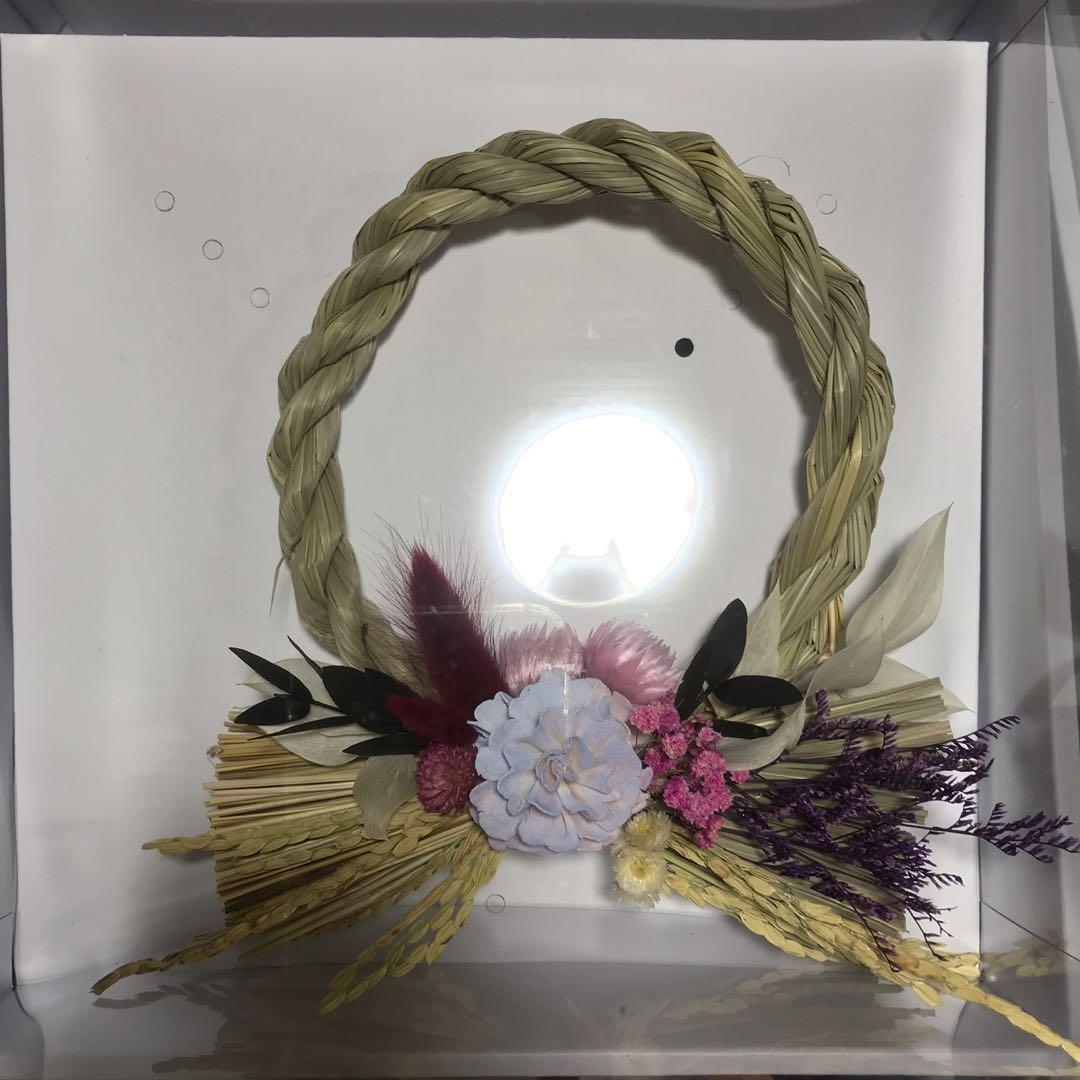 [花好玥圓]乾燥花圈 日式祈福注連繩 乾燥花 日式 新年禮物 入厝禮物