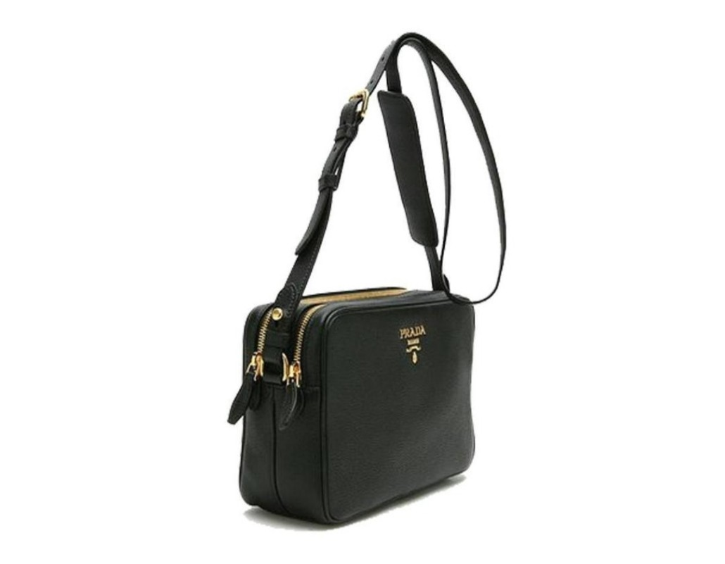 196b337293 Prada Women s Nero Vitello Phenix Leather Crossbody Hand Bag 1BH079 ...