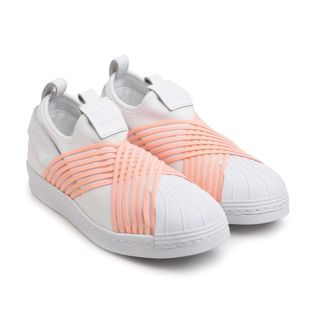 Adidas W's Superstar Slip On White Pink