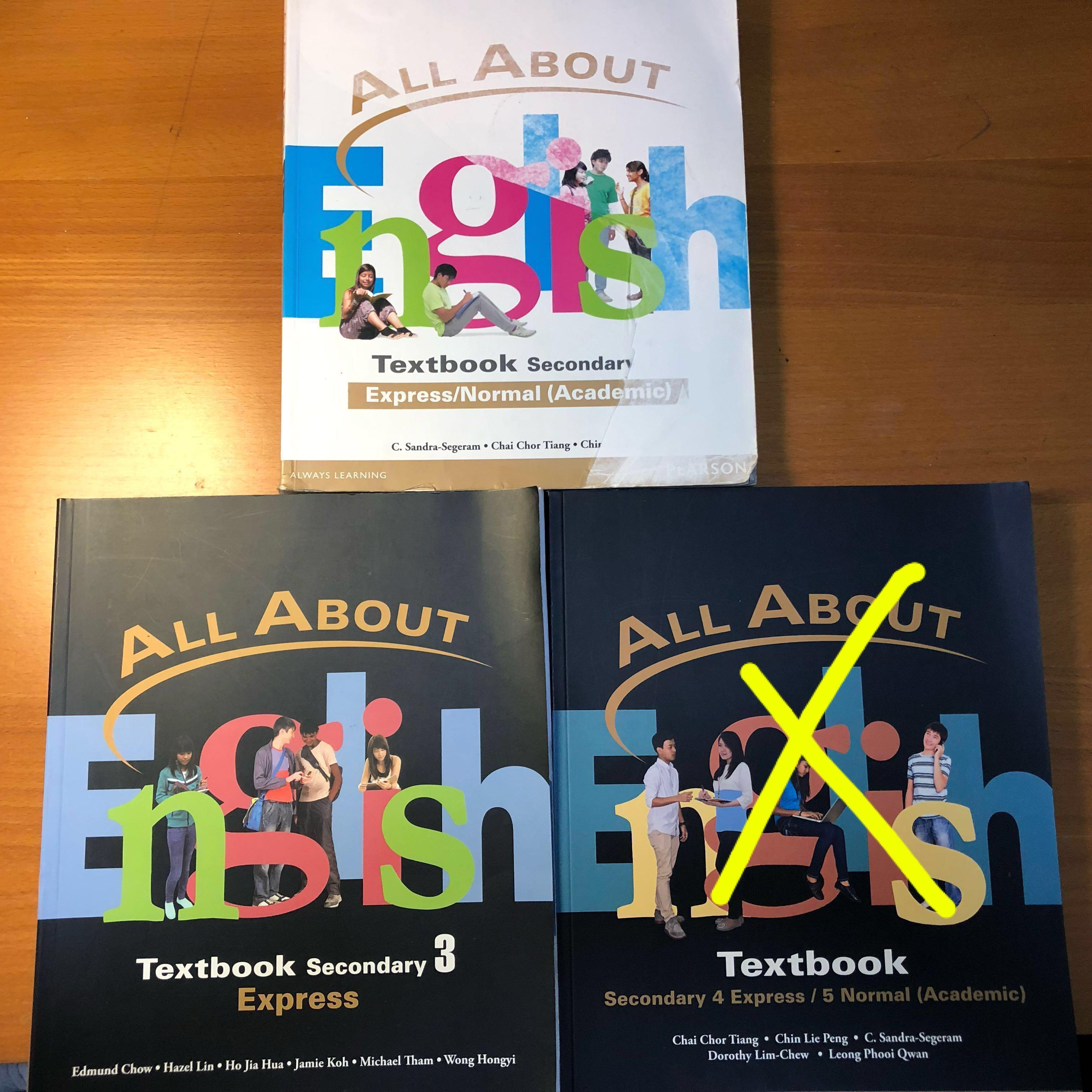 All About English Textbook (sec 1, 3, 4/5), Books