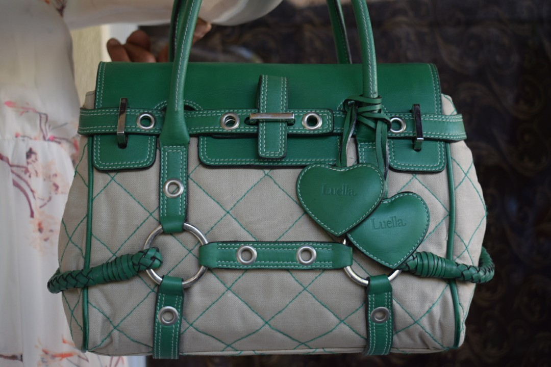 81ab2a0c649f Authentic Mulberry Green Canvas and Leather Luella Gisele Satchel ...