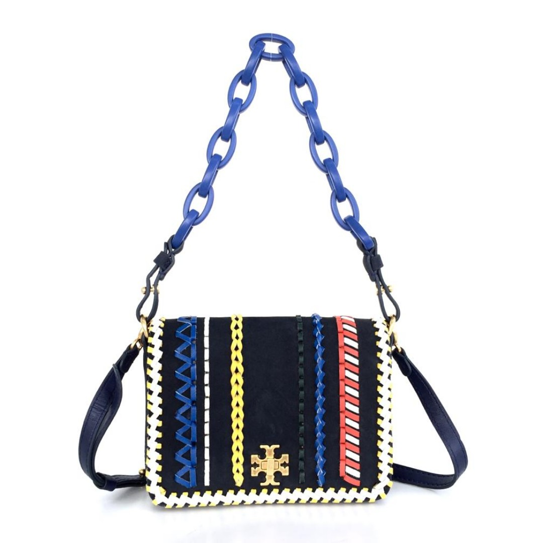 add2b274417a Authentic Tory Burch Kira Whipstitch Double Strap - Navy