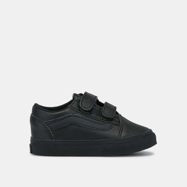 94ad7626b7 Authentic Vans (toddler)Old Skool all black leather