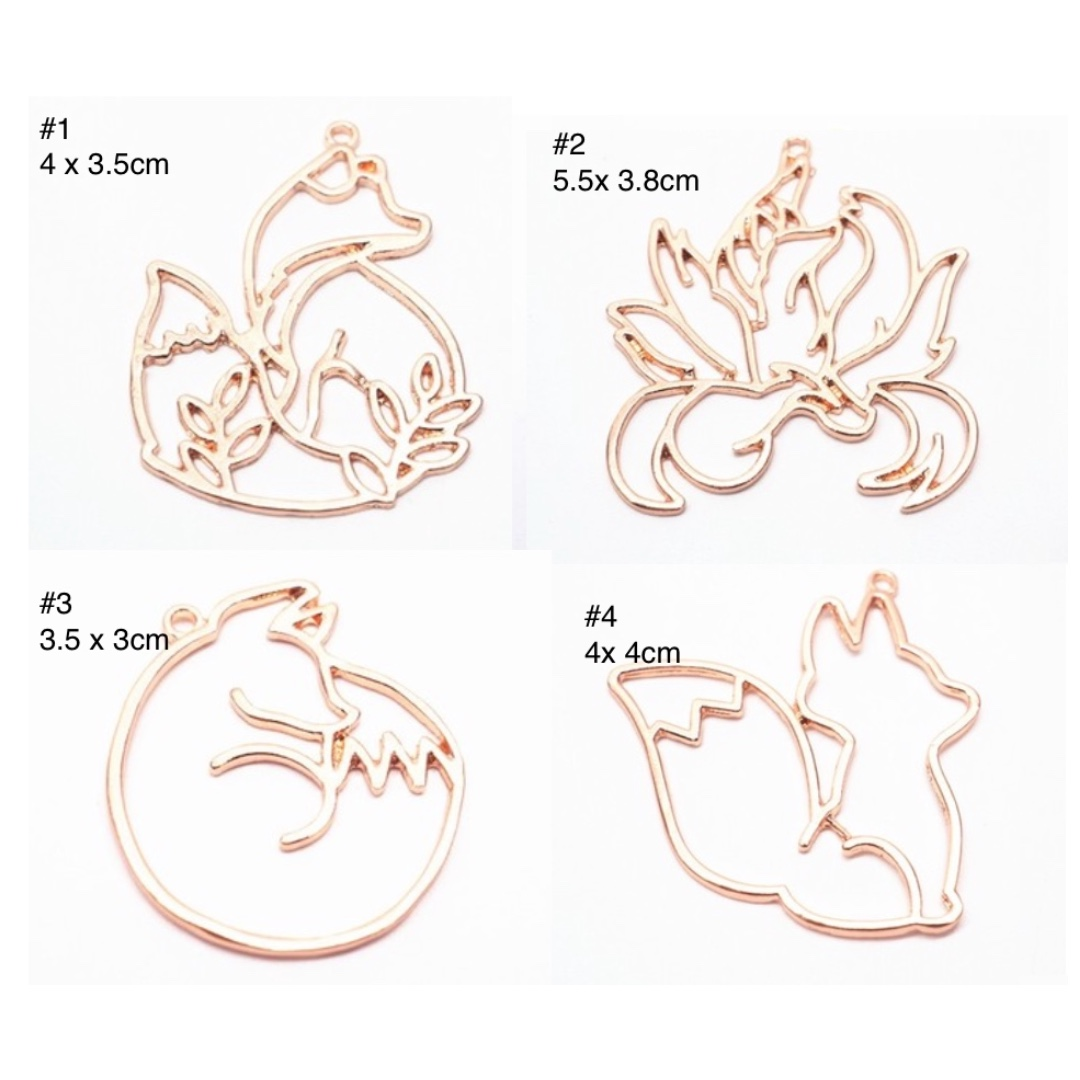 BRAND NEW INSTOCK - ROSE GOLD FOX BEZEL FOR RESIN / UV RESIN CRAFT , RESIN  CRAFT FOX BEZEL