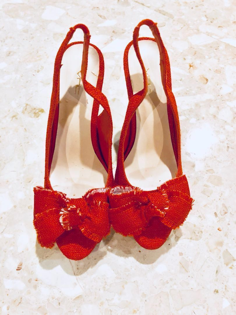 0d57534d2 Classy Orange Sandal Heels Brand New