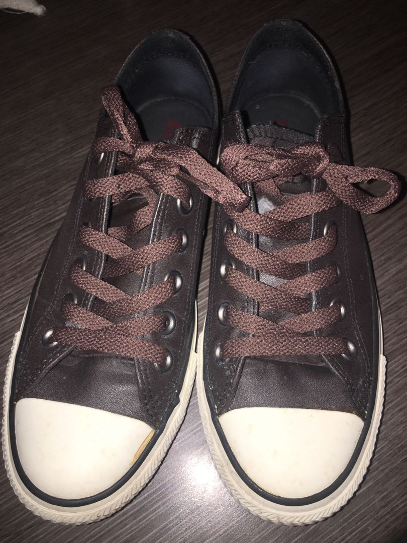 Converse leather sneakers abd7d6f55