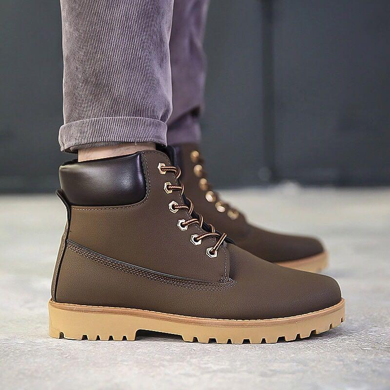 Dark Brown boots Timberland style