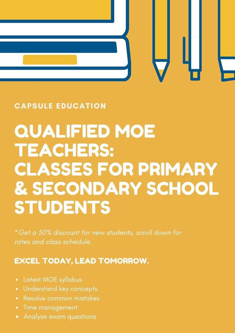 Experienced MOE Teachers: 1 to 1 and Group tuition at various locations