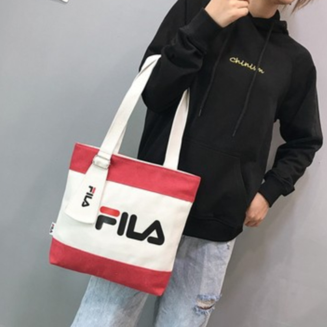 b958e31850a Fila Tote Bag (Red), Women s Fashion, Bags   Wallets, Handbags on ...