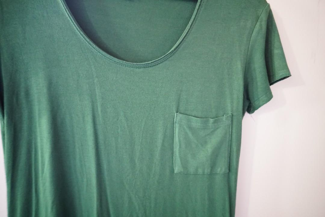 Green soft t-shirt dress size 8