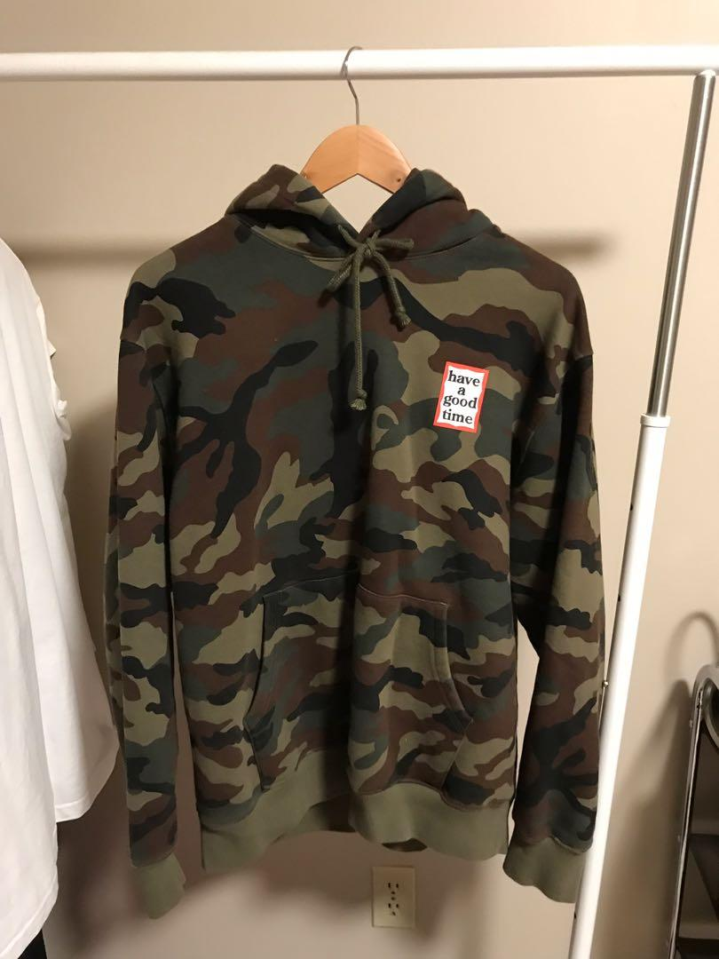 Have a good time camo hoodie