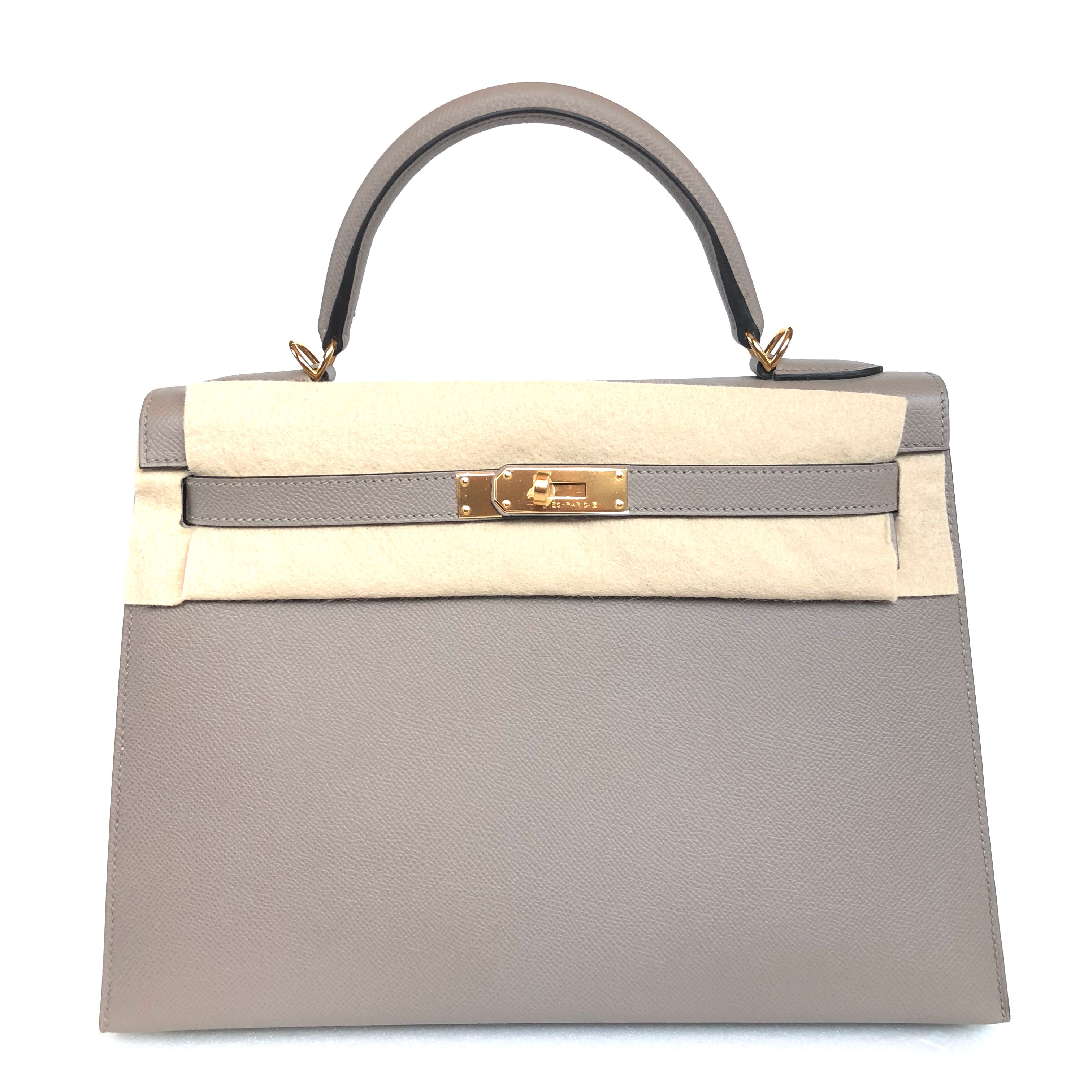 62d497a06682 Hermes - Gris Asphalte Kelly 32 Sellier in Veau Epsom with GHW ...