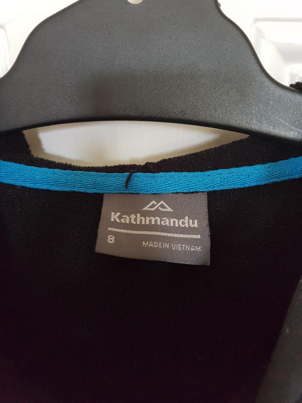 Kathmandu Black Shell Hood Jumper size 8 #SwapAU
