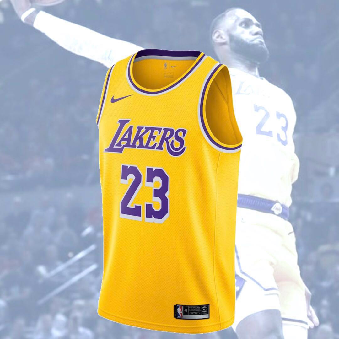 timeless design c5861 5a615 LeBron James NBA jersey Swingman Lakers
