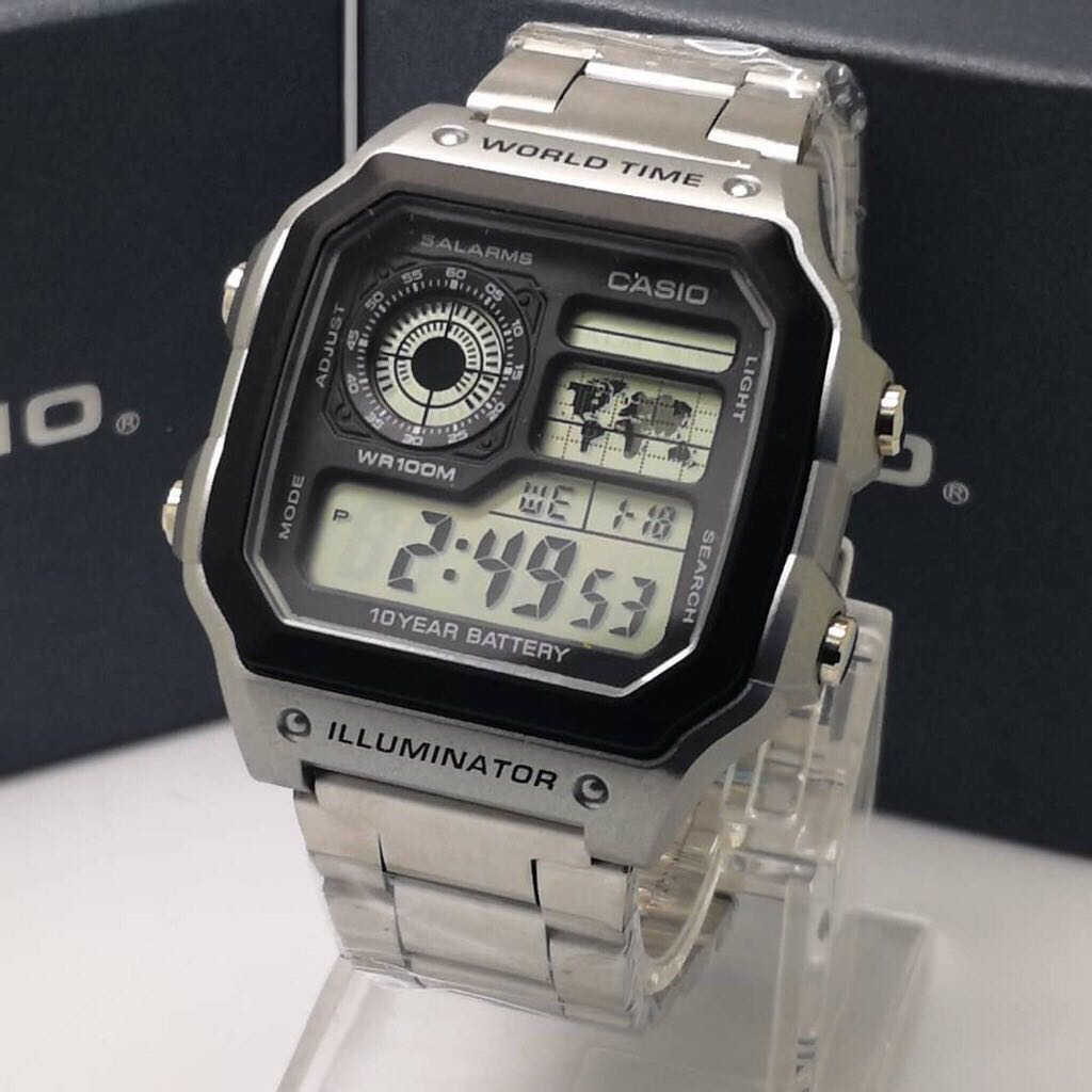 🔥 LIMITED EDITION  Casio World Time Multi-Function Analog Watch  JAN55 88176ca22f