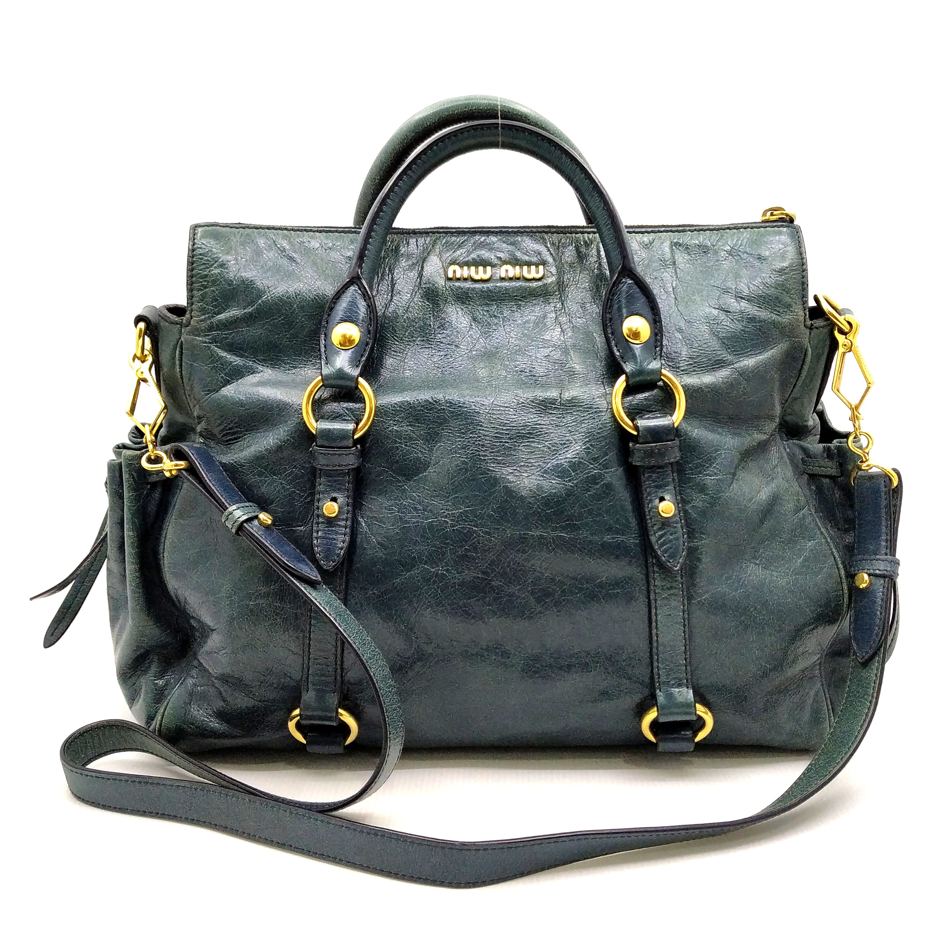 939f59bd37a9 Miu Miu 2Way Turq Bag 197000438