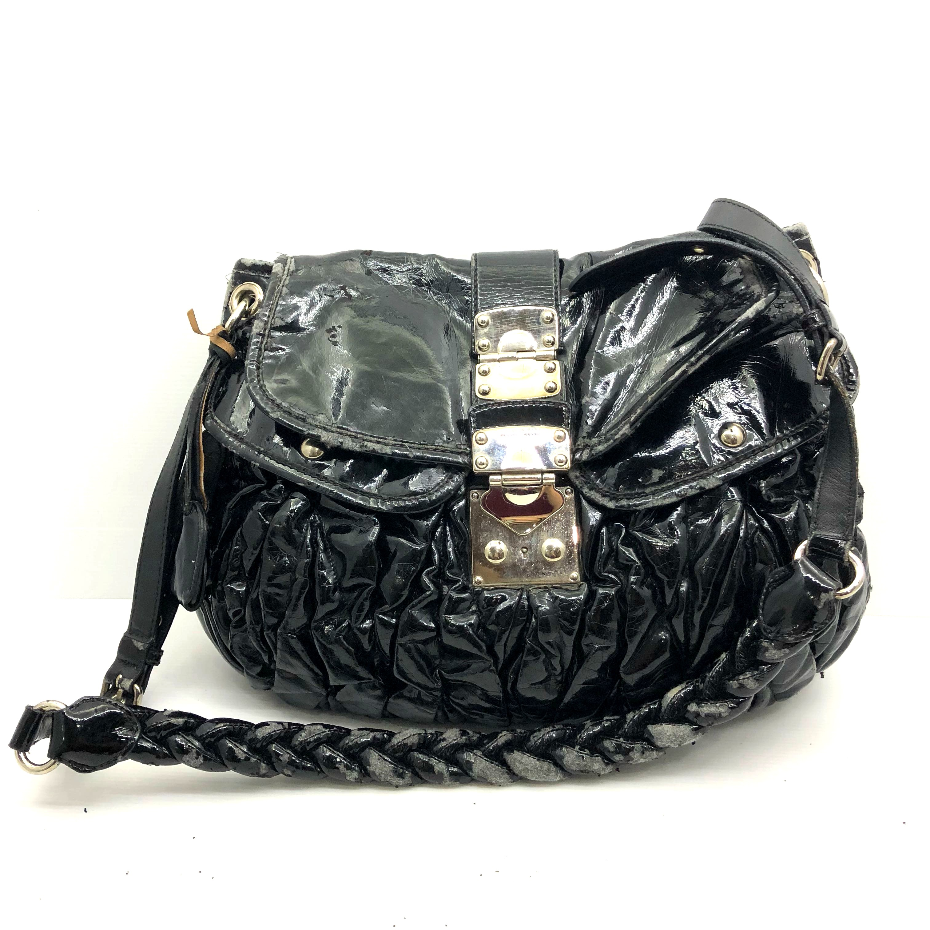 1730b7e33f42 Miu Miu Patent Coffer Shoulder Bag 187004210