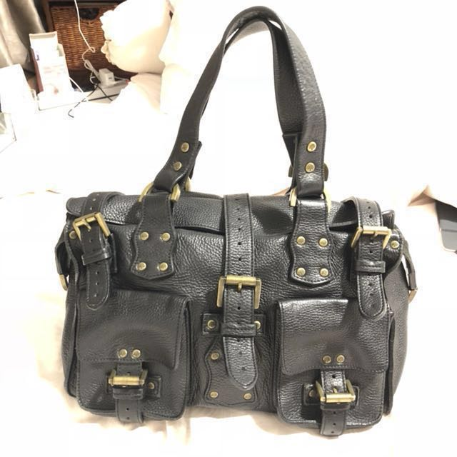 2f0952c8cd7f Mulberry Roxanne bag - black leather gold hardware