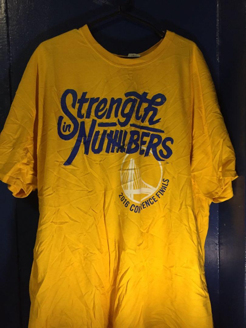 huge discount 04a92 9952a NBA WARRIORS OFFICIAL CHAMPIONSHIP SHIRT on Carousell