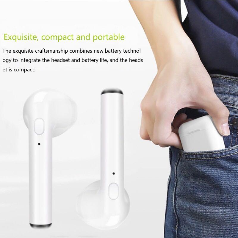 New Mini Wireless Bluetooth Earphone With Headphones Charging Box Stereo  Earbud Headset Earpiece for iphone Android air pods