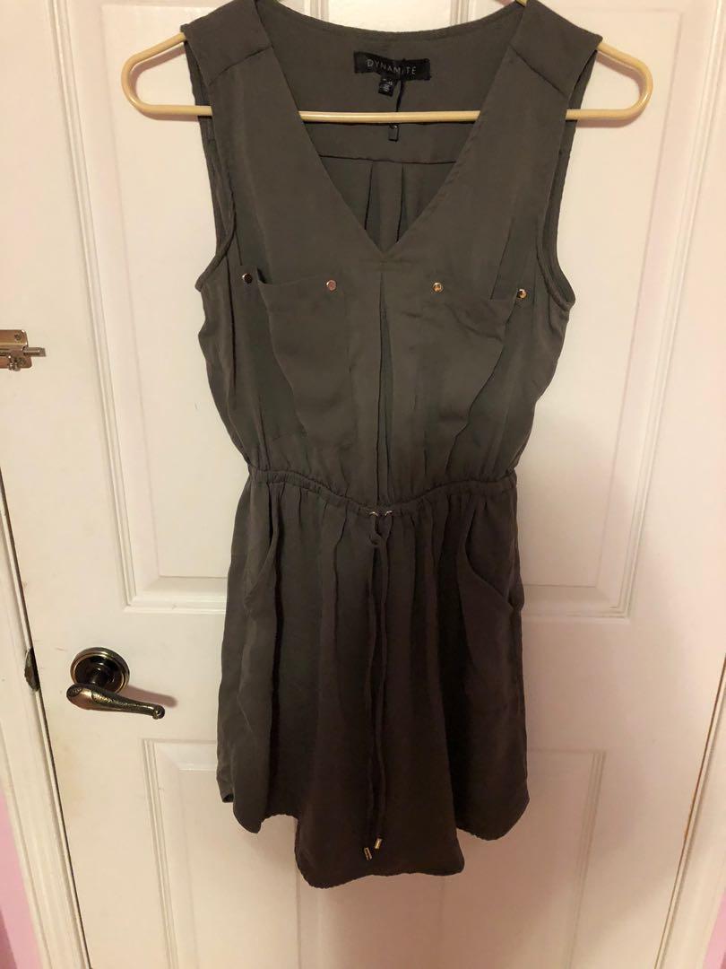 Olive Cargo Dress