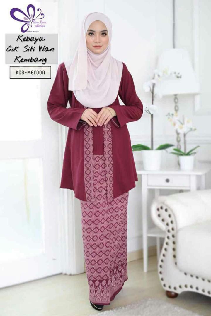 Po Kebaya Cik Siti Wan Kembang Women S Fashion Muslimah Fashion On Carousell