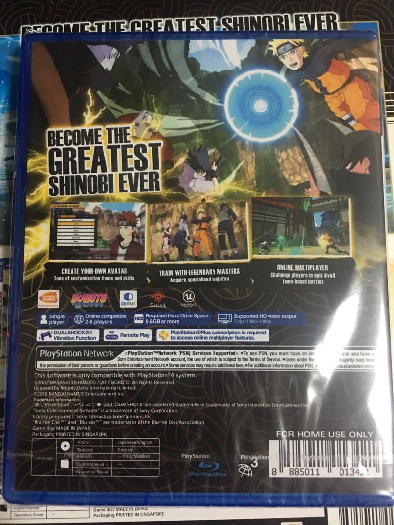 PS4 naruto to boruto shinobi striker deluxe edition, Toys