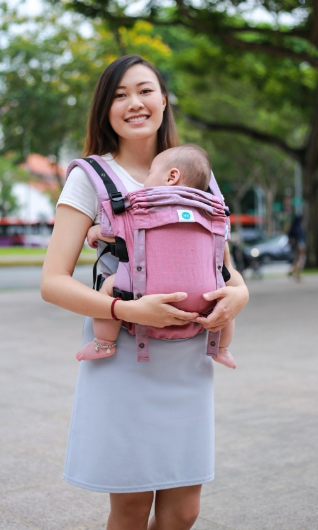fa889920a5a Soul sling anoona linen sakura Baby Carrier