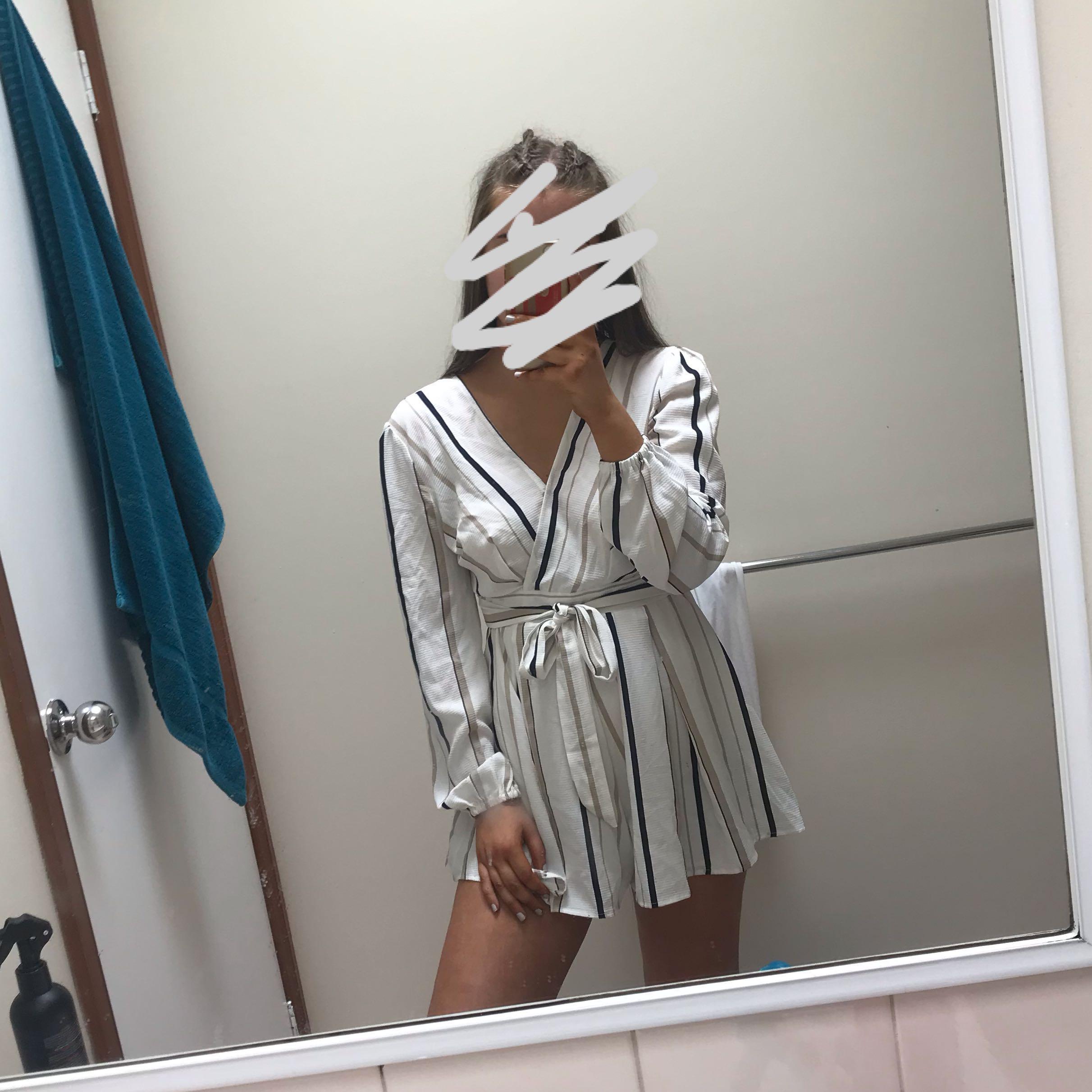 stripy playsuit