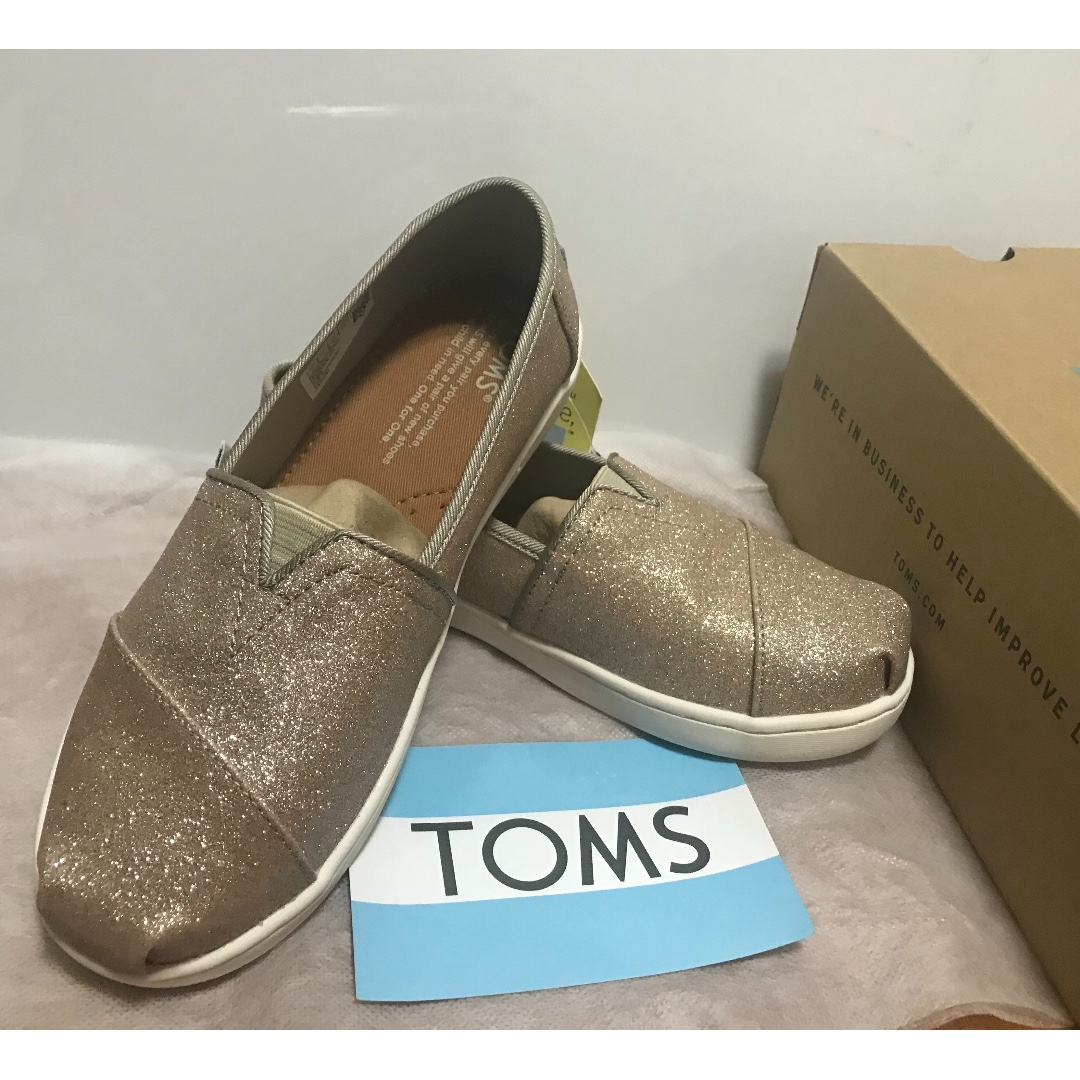 95e27a86268 Toms Youth Rose Gold Glimmer