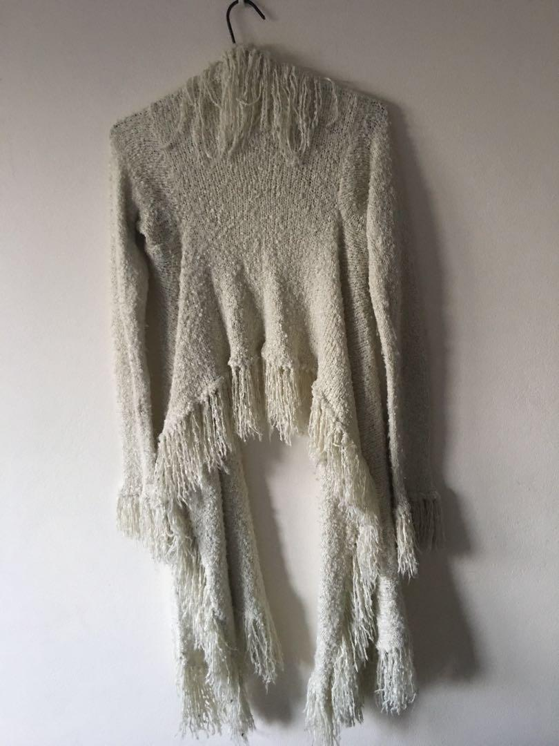 Tree of Life Shaggy Vintage Fringed Coat