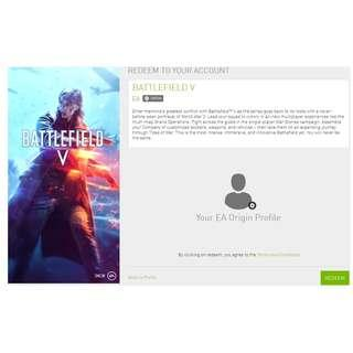 🚚 Battlefield V EA Origin game code