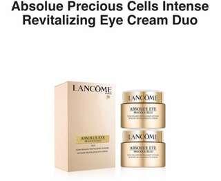 2 * 20ml Lancôme Absolue Precious Cells Intense Revitalizing Eye Cream Duo