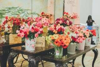 Flower booth for wedding and event