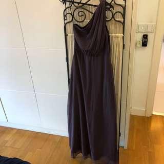 Eclipse long toga dress lilac