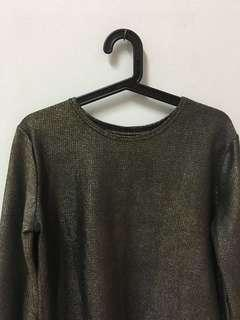 FREE SHIPPING | Shinny Dark Green Top