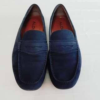ALDO Loafers, Dark Blue Suede Leather. Unused, Good Condition, no flaw.  $48, WhatsApp 96337309.
