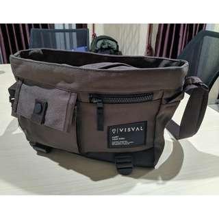 VISVAL - SLING BAG GRID BROWN