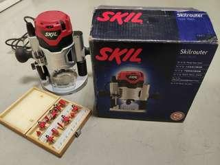Skil router 1200W + router bits set