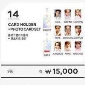 [secured stocks @ $28 each] nct127 neo city the origin cardholder & photocard set