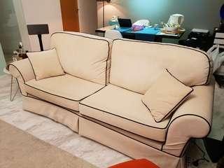Good as new custom made fabric sofa