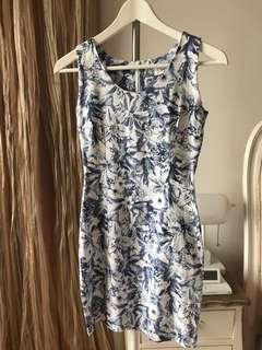 Tropical printed fitted dress #precny60