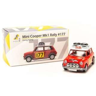 TINY CITY 177 DIE-CAST MODEL CAR - MINI COOPER RALLY #177 - ATC64546