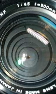 🚚 鏡頭 300MM F4.5 MC MINOLTA MD 手動 美品 含腳架環 前後蓋