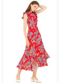 Doublewoot Red Floral Dress